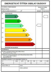 PENB - energeticky stitek budovy